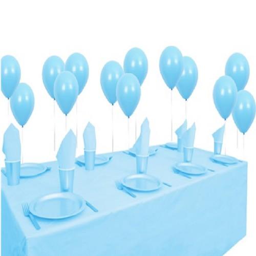 25 kişilik Balonlu Açık Mavi Doğum Günü Parti Paketi Süs Seti