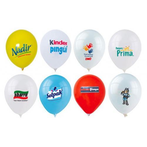 1000 Adet Baskılı Balon: Logo: 3 Renk + Baskı : Tek Taraf  + Balon istenilen Renk (3+0)