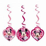 3 Adet Minnie Mouse Yaylı  Set  Asma İp Süs Kız Doğum Günü Parti Malzemesi
