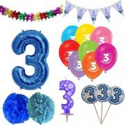 3 Yaş Erkek Doğum Günü Süsleri Paketi