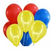 30 Ad Metalik Kırmızı-Sarı-Koyu Mavi Lacivert Balon Helyumla Uçan