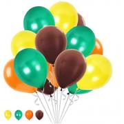 30 Ad Safari Hayvanlar Alemi Renkleri Metalik Balon Helyumla Uçan