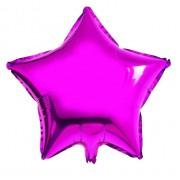 45cm Koyu Pembe Fuşya Yıldız Folyo Balon Doğum Günü Helyumla Uçan