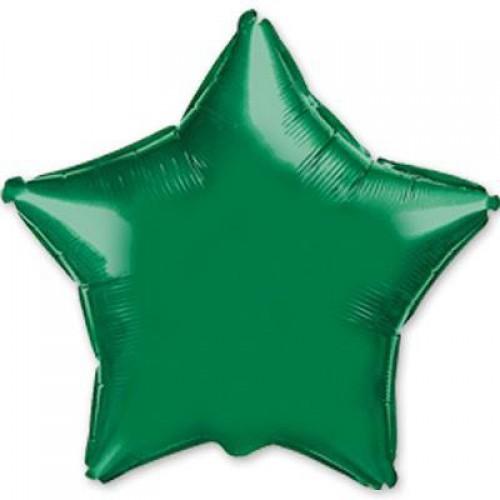45cm Koyu Yeşil Yıldız Folyo Balon Doğum Günü Helyumla Uçan