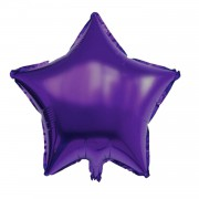 45cm Mor Yıldız Folyo Balon Doğum Günü Helyumla Uçan