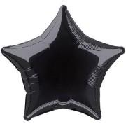 45cm Siyah Yıldız Folyo Balon Doğum Günü Helyumla Uçan