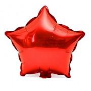 45cm Kırmızı Yıldız Folyo Balon Doğum Günü Helyumla Uçan