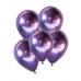 5 Ad 1.Kalite Mor Renkli Parlak Krom Metalik Aynalı Balon