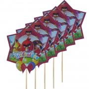 5 Adet Angry Birds Doğum Günü Konuşma Balonu Çubuğu