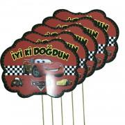 5 Adet Cars Konuşma Balonu Çubuğu, Arabalar Konuşma Çubukları