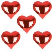 5 Adet Sevgiliye Doğum Günü Kalp Balonlar