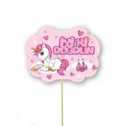 5 Adet Unicorn Konuşma Balonu Çubuğu, Tek Boynuzlu At Çubukları