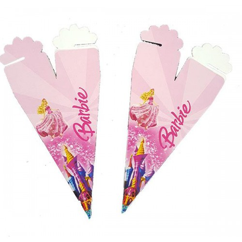 50 Adet Barbie Külah, Şeker Lokum İkram Kutusu