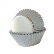 50 Adet Gri Gümüş Lame Cupcake Kalıbı Kek Kapsülü Muffin Kabı