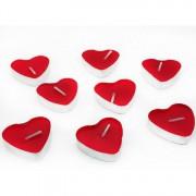50 Adet Kırmızı Kalp Şeklinde Küçük Kalpli Tealight Mumlar