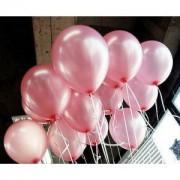 50 ADET METALİK Sedefli Parlak PEMBE BALON Doğum Günü Uçan Ucuz