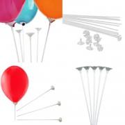 50 Adet Balon Çubuğu Sopası ve 50 Adet Takma Çubukları