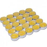 50 Adet Sarı Küçük Yuvarlak Tealight Mum, Ufak Renkli Mum