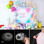 5m Balon Zinciri Aparatı, Zincir Balon Kemeri İpi Makaron Balon