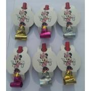 6 Adet Minnie Mouse Konseptli Parti Düdüğü (Kaynana Dili)