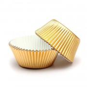 100 Altın Sarısı Gold Dore Cupcake Kalıbı Kek Kapsülü Muffin Kabı