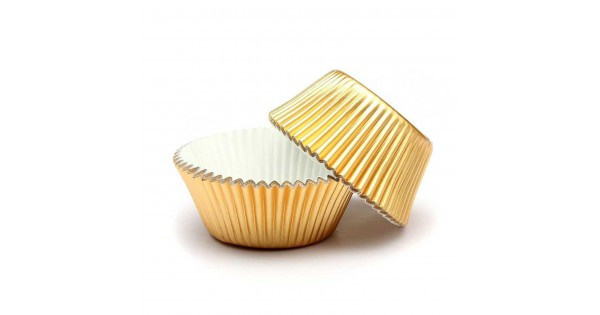 100 Altin Sarisi Gold Dore Cupcake Kalibi Kek Kapsulu Muffin Kabi