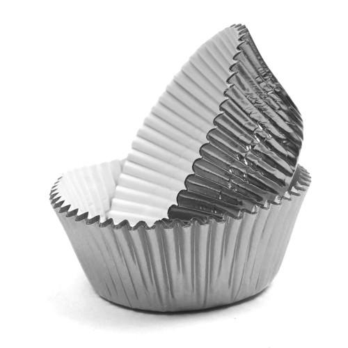 100 Adet Gümüş Gri Cupcake Kalıbı Kek Kapsülü Muffin Kabı