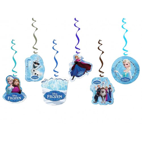 6lı Elsa(Frozen) Partisi Konsept Yazılı Parti Asma Süsleri