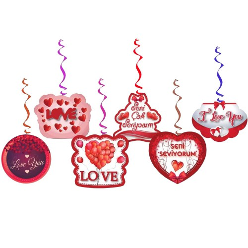6lı Sevgiliye Doğum Günü Konsept Organizasyonu Yazı Süsleri
