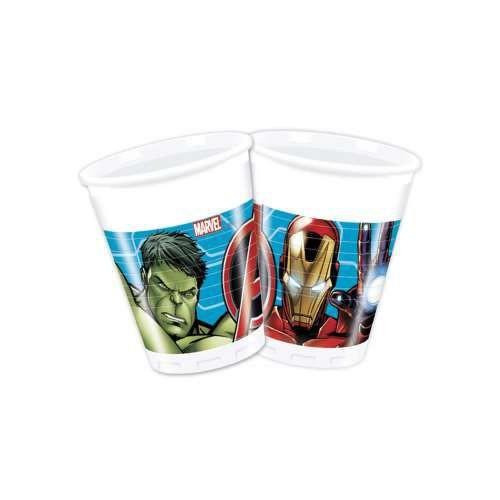 8 Adet Avengers Plastik Bardak 200ml Yenilmezler Parti Malzemesi