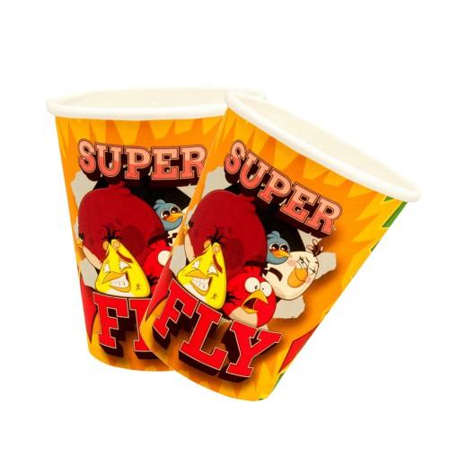 8 Adet Angry Birds Kağıt Bardak, Doğum Günü Parti Konsepti