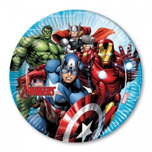 8 Adet Avengers Karton Tabak, 23cm Yenilmezler Partisi Malzemesi