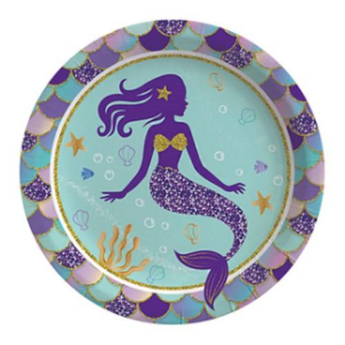 8 Adet Deniz Kızı Tabak, Doğum Günü Konsept Parti