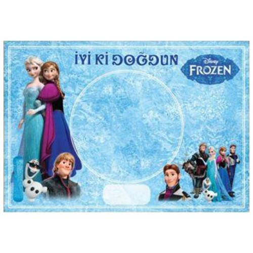 8 Adet Elsa (Frozen) American Servis (Tabak Altlığı) Sunum