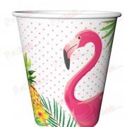8 Adet Flamingo Karton, Doğum Günü Parti Bardağı