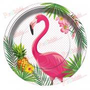 8 Adet Flamingo Doğum Günü Parti  Tabağı