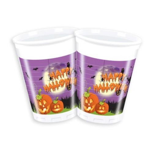 8 Adet Halloween Cadılar Bayramı Konsepti Bardak, Parti Ürünleri
