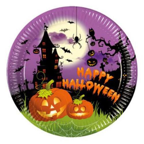 8 Adet Halloween Partisi Kağıt Tabak, Cadılar Bayramı Ürünleri