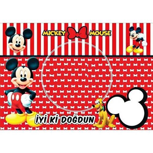 8 Adet Mickey Mouse Amerikan Servis (Tabak Altlığı) Sunum