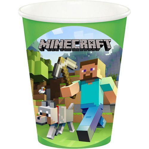 8 Adet Minecraft Yeşil Bardak Doğum Günü Parti Malzemeleri
