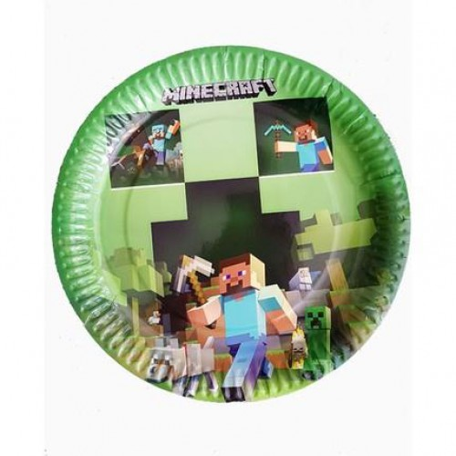 8 Adet Minecraft Konsept Tabak Doğum Günü Parti Tabağı