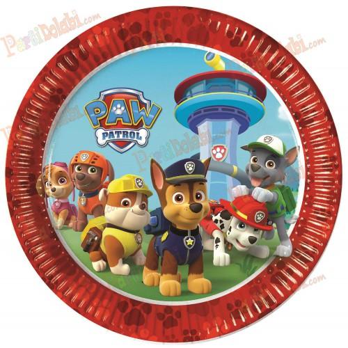 8 Adet Paw Patrol 23 cm Tabak, Köpekler Doğum Günü Parti Konsepti