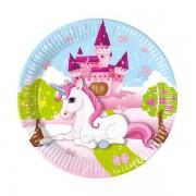 8 Adet Unicorn Tekboynuz At Baskılı Tabak, Doğum Günü Partisi