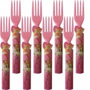 8 Adet Winx Winks Pembe Plastik Çatal Kız Parti Malzemeleri