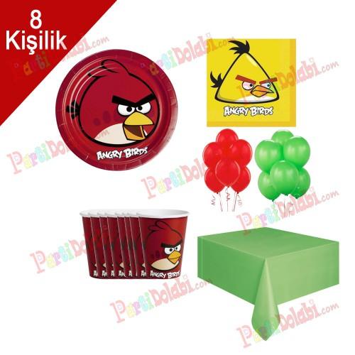 8 Kişilik Angry Birds Doğum Günü Konsepti Peçete Tabak Balon seti