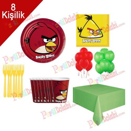 8 Kişilik Angry Birds Doğum Günü Parti Teması Konsepti Seti