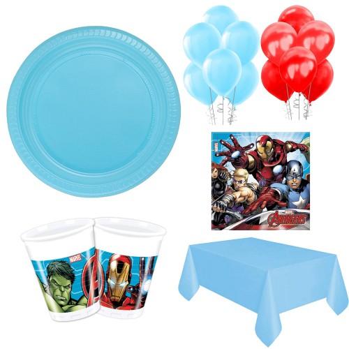 8 Kişilik Avengers Parti Malzemeleri, Yenilmezler Seti Paketi