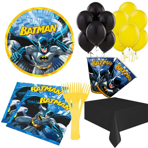8 Kişilik Batman Doğum Günü Süsleri, Parti Konsepti Malzemeleri