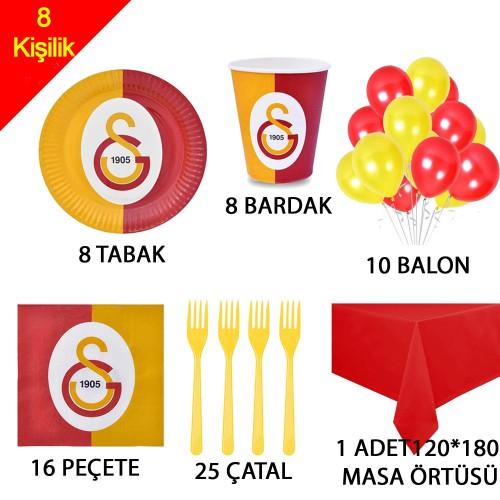 8 Kişilik Galatasaraylı Doğum Günü Malzemeleri, Gs Konsepti