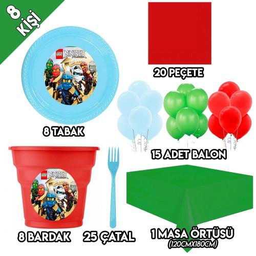 8 Kişilik Lego Ninjago Temalı Doğum Günü, Ninjago Parti Süsleri